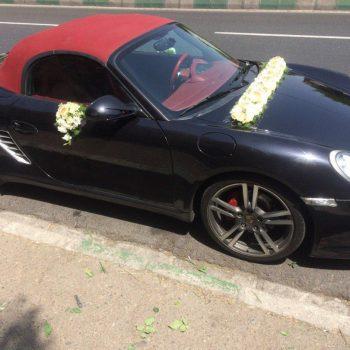 نمونه گل زده ماشین عروس پورشه