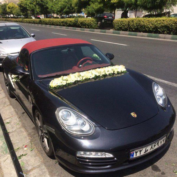اجاره ماشین عروس پورشه باکستر